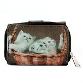 Tri-Fold Wallet - Kitty Print - WL-197CAT2-2